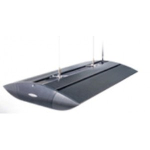 Rampe Serie 4 Arcadia  1 X150w + 2x18w  700mm - Noir - eau de mer