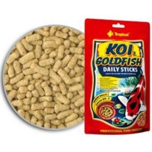 Koi & Goldfish Daily Sticks 120grs Tropical