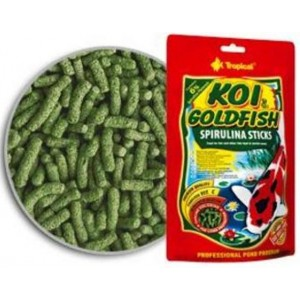 Koi & Goldfish Spirulina Sticks 130grs Tropical