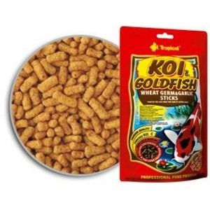 Koi & goldfish wheat germ & garlic sticks 5 Litres