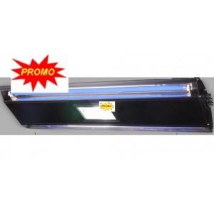 Rampe noir reallight 65cm hqi 1x250w + 2xt5 néon bleu 24w