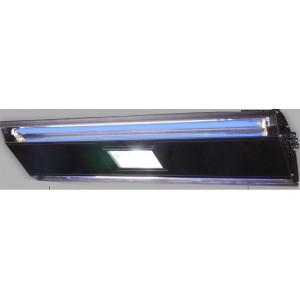 Rampe HQI 1x150W+2xT5 nèon bleu 24W noir Reallight 65cm