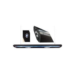 Rampe noir 125cm hqi 2x150w + 2xt5 néon bleu 54w + 2 spots à led