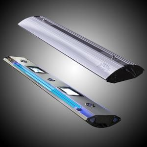 Rampe HQI 2x150W+2xT5nèon bleu 54W+3 Spots Real 150cm