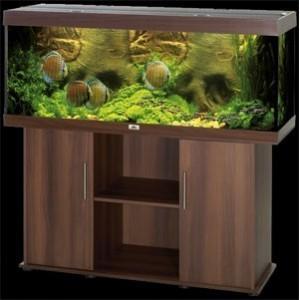 Aquarium RIO 400 avec Meuble et Equipement Couleur Noir ou Hetre ou Bois Brun Couleur - Noir, Couleur - Hetre, Couleur - Weng